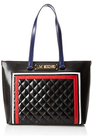 Moschino Love Dames Quilted Pu Mix Multi Tote, (Nero), 15x10x15 centimeter