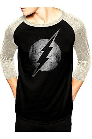 The Flash Dc Originals-Flash Logo Mono Distressed shirt met lange mouwen voor heren - - X-Large