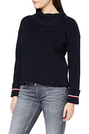 Tommy Hilfiger Dames Rib Roll-nk Sweater Ls Pullover