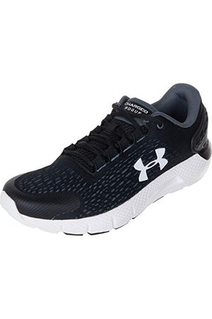 Under Armour Unisex Kids Grade School Charged Rogue 2 Jogging Shoes Performance Gym Shoes, Black Black Halo Gray White, 4.5 UK