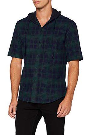 Urban classics T-shirt met capuchon voor heren met korte mouwen