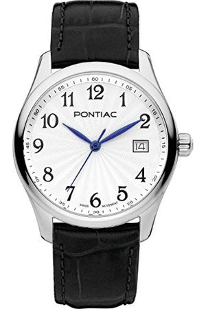 Pontiac Dames analoog Zwitsers Quartz horloge met lederen band P10056