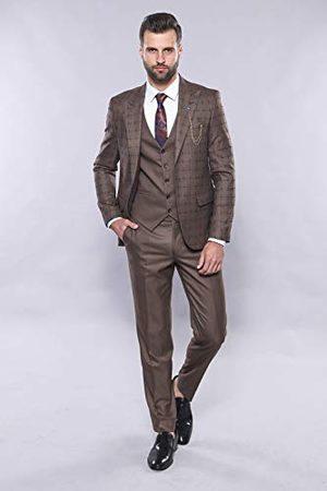 Wessi Slank pasvorm geruit pakken voor heren - Dress Set
