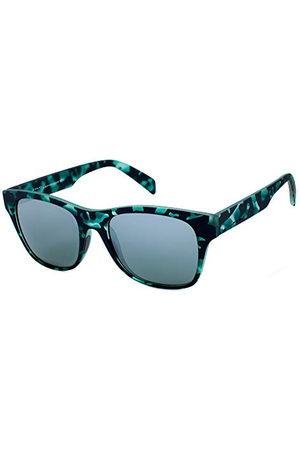 Italia Independent Unisex volwassenen 0901-152-000 zonnebril, meerkleurig (Verde/Negro), 52.0