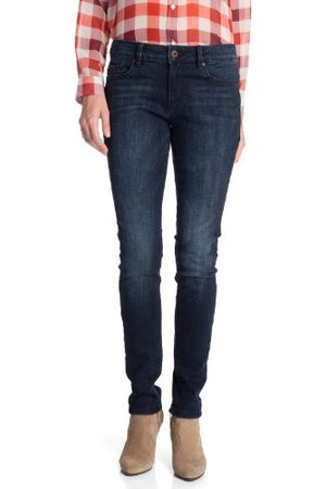 Esprit Dames jeans 083EJ1B061 Skinny/Slim Fit (groen) normale tailleband