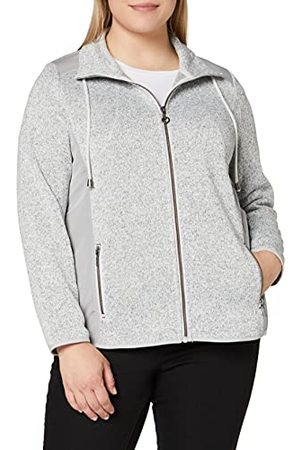 Ulla Popken Fleece sweatjas voor dames met schouderpatches