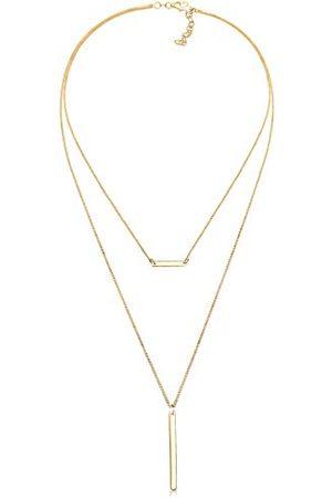 Elli Halsketting Choker Geo Layer Minimal 925 Silber