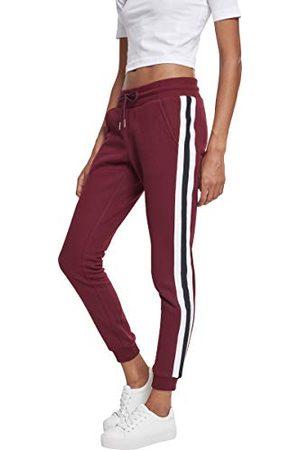 Urban classics Dames Ladies College Contrast Sweatpants broek,Mehrfarbig (Port/White/Black 01554),28W