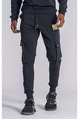 Gianni Kavanagh Black Barcode Joggers Track Pants voor heren