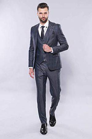 Wessi Slank pasvorm, pak met patroon, voor heren, pak met vest