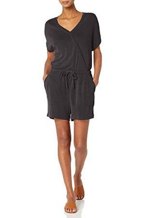Daily Ritual Amazon Merk - Dagelijks Ritueel Vrouwen Sandwashed Modal Blend Kort-Sleeve Overlap Romper, ,L-XL