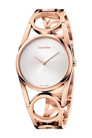 Calvin Klein K5U2S646 Analoog kwartshorloge voor dames, met roestvrijstalen armband