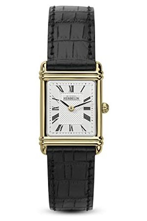 Michel Herbelin Unisex analoog horloge voor volwassenen met lederen armband 17478/P08