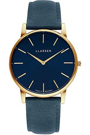 LLARSEN 147GDG3-GOCEAN20 analoog kwartshorloge voor heren met leren armband
