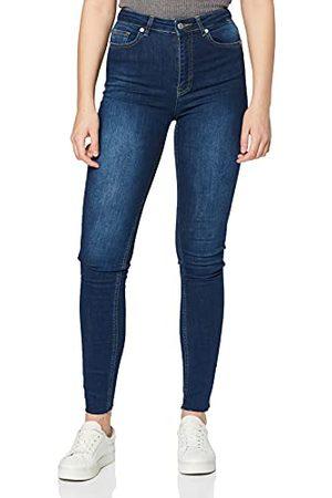 NA-KD Dames Skinny hoge taille Raw Hem Jeans Tall
