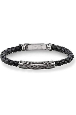 Thomas Sabo A1407-805-11-L21 touwarmband voor heren, 925 sterling zilver