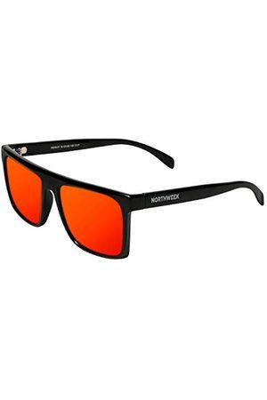 Northweek Unisex volwassenen HALE zonnebril, meerkleurig (Shine Black/Red Polarized), 10.0
