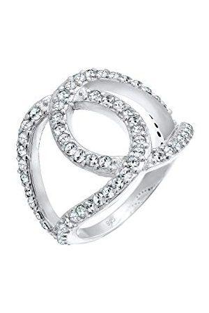 Elli Ringen LoveKnots Kristalle 925 Sterling Silber