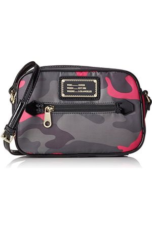 Guess Women's's Florencia Crossbody Top Rits Handtas Camu Pink), One Size