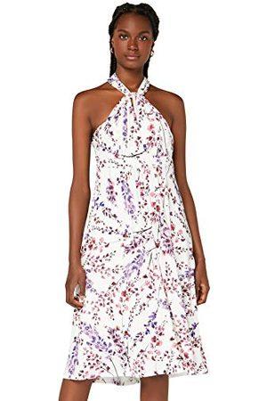 TRUTH & FABLE Amazon-merk - Multiway Midi-jurk voor dames, veelkleurig (witbloesem), 20, label:3XL