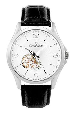 Continuum Horloge automatisch horloge polshorloge zilver voor mannen mannen analoog herenhorloge mannenhorloge met leren armband waterdicht klassiek elegant wijzerplaat C15H26