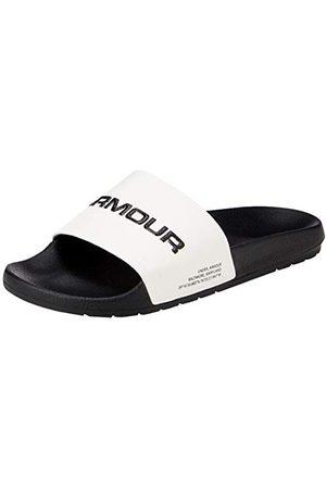Under Armour Unisex Adults Core Remix Beach & Pool Shoes, White (Onyx White/Black/Onyx White (103) 103), 10 UK