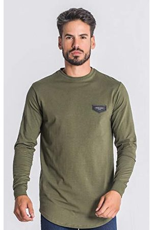 Gianni Kavanagh Army Green Core Long Sleeve Tee T-shirt voor heren