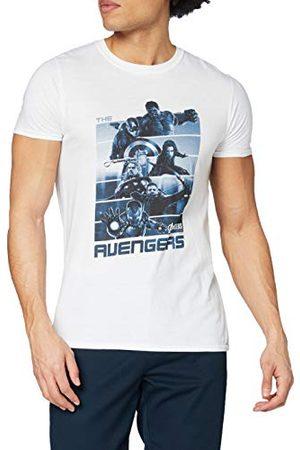 Marvel Avengers Teamstrepen T-shirt met korte mouwen voor heren