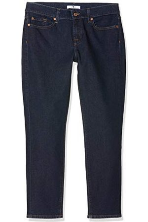 7 for all Mankind Dames Mid Rise Roxanne Crop Slim Jeans