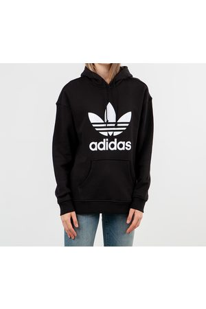adidas Adidas Trefoil Hoodie Black/ White