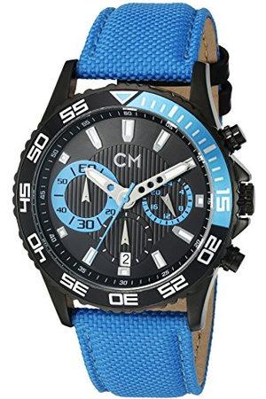 Carlo Monti Avellino CM509-663 Herenhorloge met analoge weergave, chronograaf met nylon armband, waterdicht herenhorloge met tijdloos, chique design, klassiek horloge voor mannen