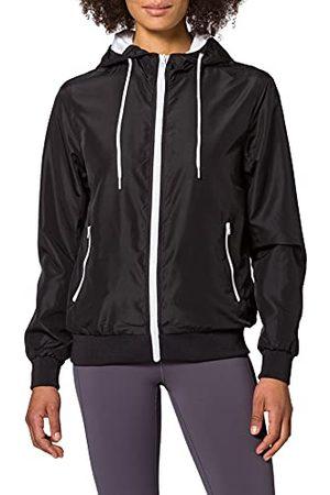 Build Your Brand Gerecycled windrunner jas voor dames.