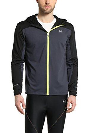 Ultrasport Hardloopjas voor heren met capuchon - Jersey Fleece gevoerde sportjas met reflecterende elementen - Midlayer multifunctionele jas