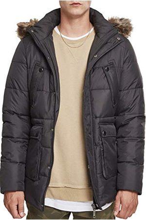 Urban classics Heren Faux Fur Hooded Jacket Jacket