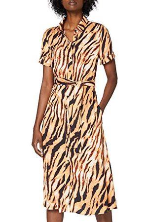 one more story Dames jurk maxi-jurk met tijgerprint