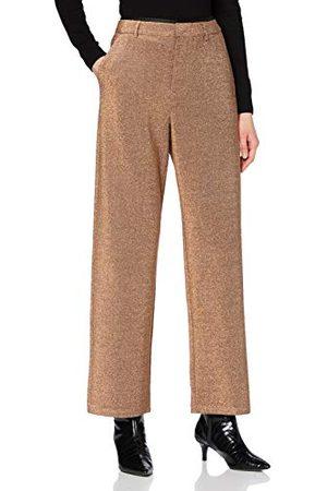 Scotch&Soda Dames Lurex-broek met wijde pijpen en stretchbroek