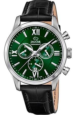 Jaguar Horloge model J884/3 uit de collectie ACAMAR 41,5 mm groen met zwarte leren armband voor heren