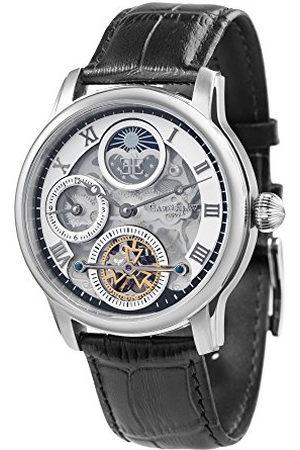 THOMAS EARNSHAW Thomas Earnhshaw Heren Longitude Shadow Automatisch Horloge Met Zilveren Dial Skelet Display En Zwarte Lederen Band ES-8063-01