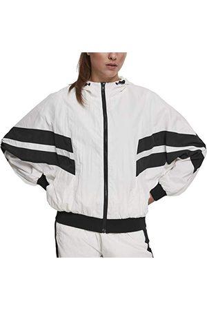 Urban classics Crinkle Batwing Track Damesjack, trainingsjack voor vrouwen, met vleermuismouwen in 3 kleuren, maten XS - 5XL