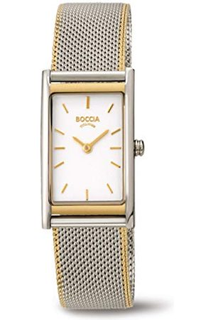Boccia Womens analoge quartz horloge met roestvrij stalen band 3304-02