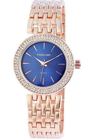 Excellanc Dames analoog kwarts horloge met verschillende materialen armband 152833000020