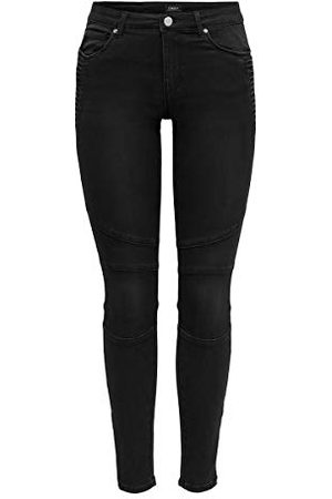 ONLY Dames Onlroyal Life Reg Sk Bikr Zip Ank Bb Pim Jeans