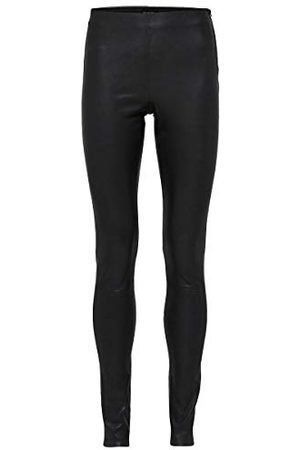SELECTED Dames Sfsylvia Mw Stretch Leather Leggings Noos Broek