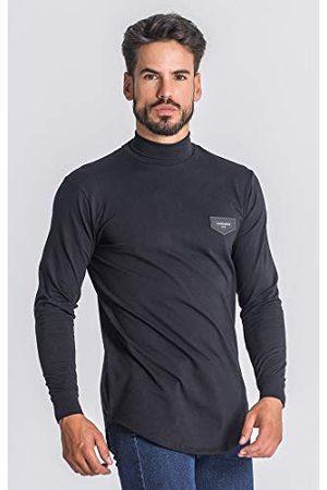 Gianni Kavanagh Black Core Turtleneck T-shirt met lange mouwen voor heren - - Large
