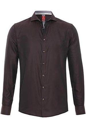Pure Heren 4034-758 City Red lange mouwen klassiek overhemd, effen lichtblauw, XS