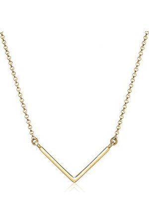 Elli Halsketting Dames V-vorm hanger Geo Minimal in 925 Sterling Zilver verguld