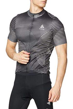 Odlo Heren Element stand-up kraag full zip longsleeve T-shirt, grafiet - , L