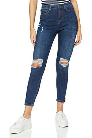 Gianni Kavanagh Donkerblauwe Core Ripped jeans voor dames. - - Medium