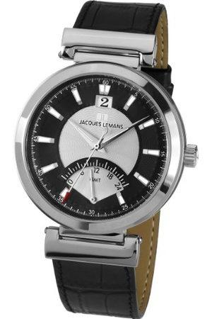 Jacques Lemans Classic herenhorloge XL Verona analoog leer 1-1697A