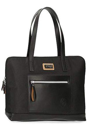 El Potro Chique laptoptas voor dames, aanpasbaar, zwart, 38 x 28 x 9 cm